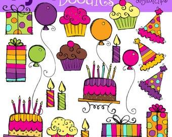 KPM Girly Birthday Bash Digital Clip art COMBO