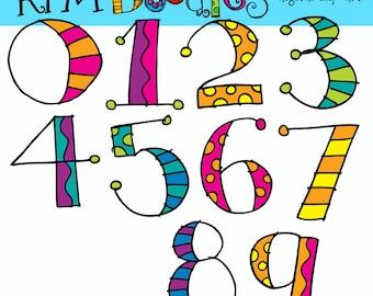 KPM Number soup digital clipart clip art COMBO