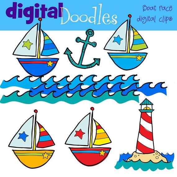 KPM Boat race digital clip art