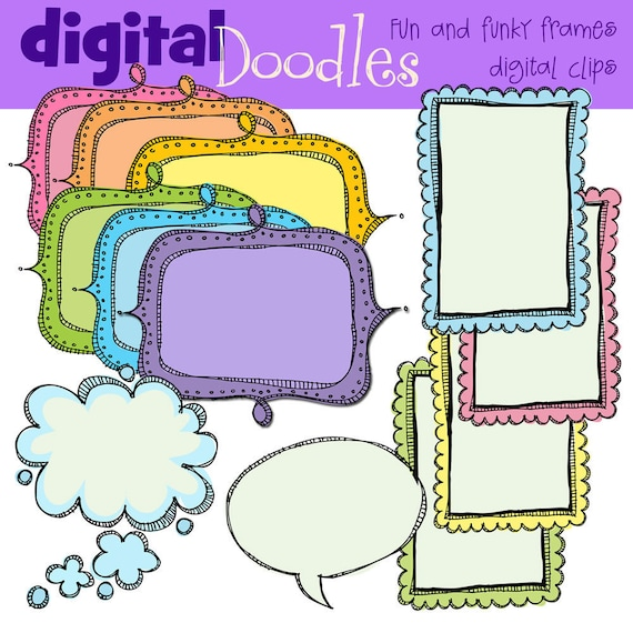 kpm fun and funky frames digital clipart