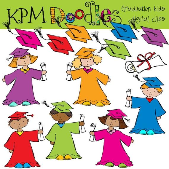 KPM Graduation Kids Digital Clip art