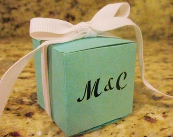 Laser Cut Monogrammed Favor Boxes 1 3/4 inches  Square