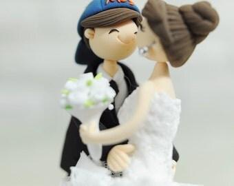 Baseball mania custom wedding cake topper gift Decoration - Forever as One