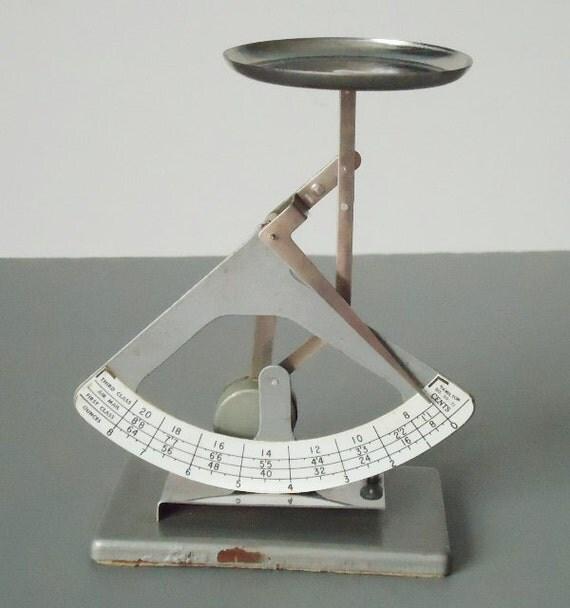 Rustic Postal Scale - Hamilton Postage Scale - Vintage Postal Scale - Industrial Decor Scale