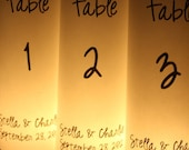 Table Numbers - Centerpieces - Luminaries - Table Markers - Candle Cover - Table Decor - Wedding Decor - Party Decor -Original Design