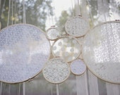 Lace Wedding Decor - Ceremony Decoration - Reception Decoration -  Set of 6 - White or Ivory