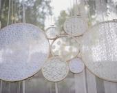 Lace Wedding Decor - Ceremony Decoration - Reception Decoration -  Set of 6 - White or Ivory