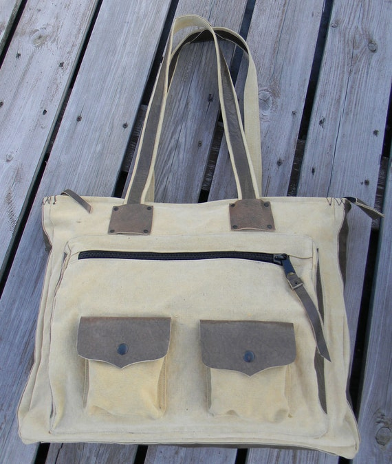 Recycle canvas large bag