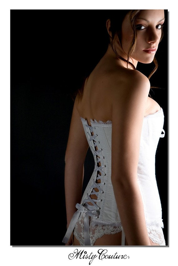 FULLY CUSTOM - Shipping Included - Steel boned bridal silk overbust corset