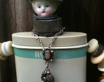 Found Object Assemblage Art Doll Steampunk Vintage Tin