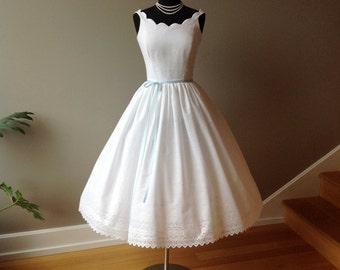 Cotton Eyelet Dress PRIMROSE, Off Shoulder