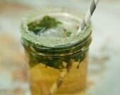 Mason jar rimming sugars - colored sugar in greens and blues for mason jar drinking glass