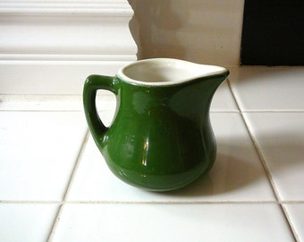 GREEN Vintage Creamer Coors China Retro Home Decor Mid Century Kitchen