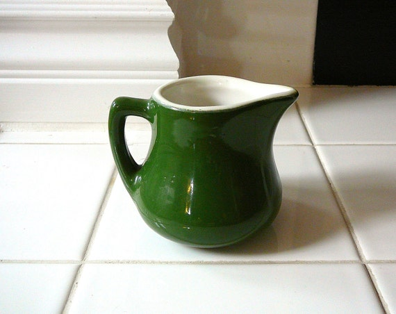 GREEN Vintage Creamer Coors China Retro Home Decor