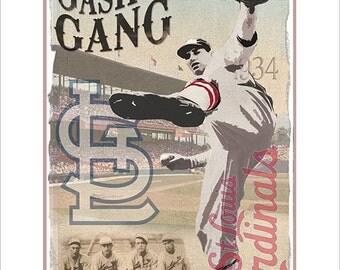 Baseball Decor St Louis Cardinals Gashouse Gang Poster