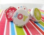 INSTANT DOWNLOAD - Printable Holiday Candy Circle Stickers Hershey Kiss Stickers by 505 Design Paperie