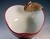Ravishing Red Apple Dish with Honey Dipper