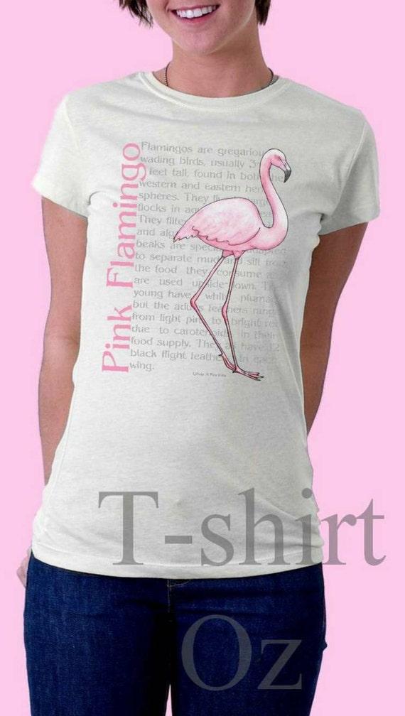 items similar to pink flamingo tshirt on etsy