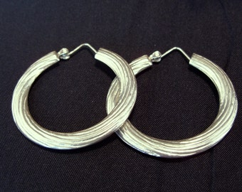 Sterling Silver Hoop Earrings Large