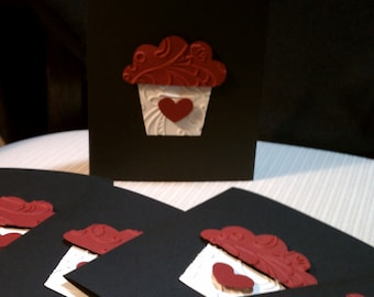 Love Cupcakes Set of 5 Valentines