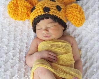Giraffes Galore - Newborn Hat