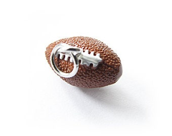 3-D Hand Painted Resin Football Charm, Qty 1