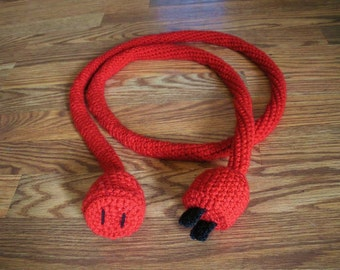 Power cord - 6 foot long and crocheted (free shipping within USA)