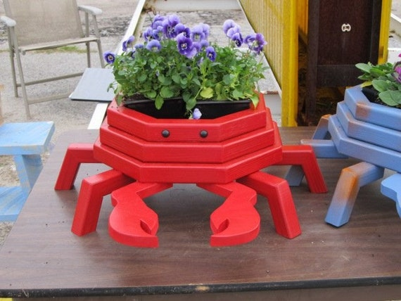 Red Crab Flower Planter