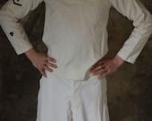 World War II Era petty officer third class dress white uniform