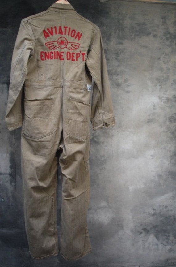 40s Aviation Coveralls Ww2 Era Americana Work Wear