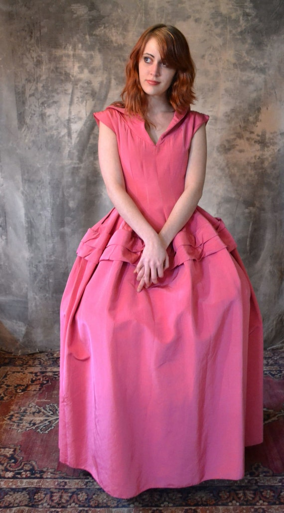 Rose-Colored Costume Hoop Dress
