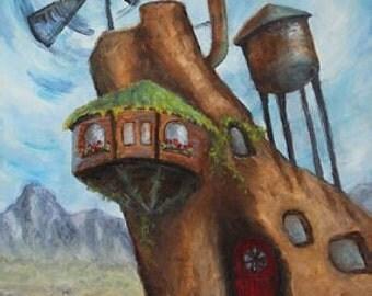 Windmill Dreams, Original Oil on Canvas