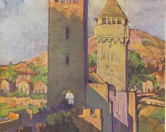 Cahors France Vintage Print