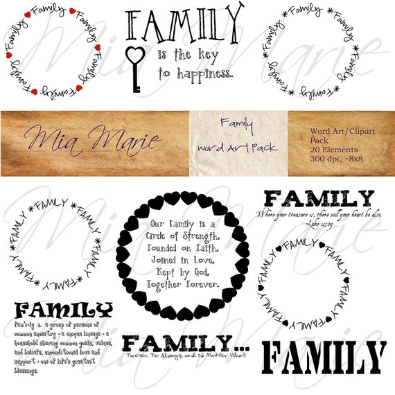 Family Word Art