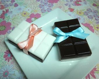 Dark and White Chocolate Soaps
