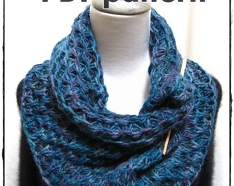 Hand Knitting PDF pattern: Cowl  'Tectum 2' -in the round-  Reversible with Amazing Texture written and charted