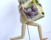 Decoupage Bracelet Bangle Purple Flowers, handmade, ooak, rice paper, fall fashion, for her, gift idea, feminine, organic, original
