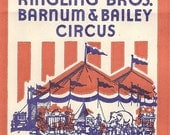 Ringling Bros. Barnum and Bailey Circus Vintage Peanut Bag, 1950's