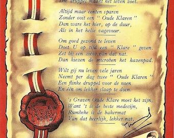 5 Graven Oude Klare Spiritueux Vintage Label, 1930-50's