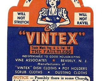 Vintex Vintage Label, 1940's