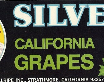 Silver Tip Vintage Crate Label, 1960s