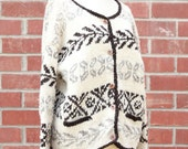 Vintage 70's hand knitted Nature Sweater by Aliento Designs 100% wool