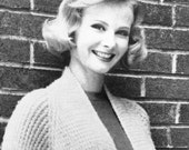 Women's Vintage Knitted Coat -- PDF KNITTING PATTERN