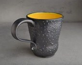 Curvy Dottie Mug: Black and Yellow Curvy Dottie Mug
