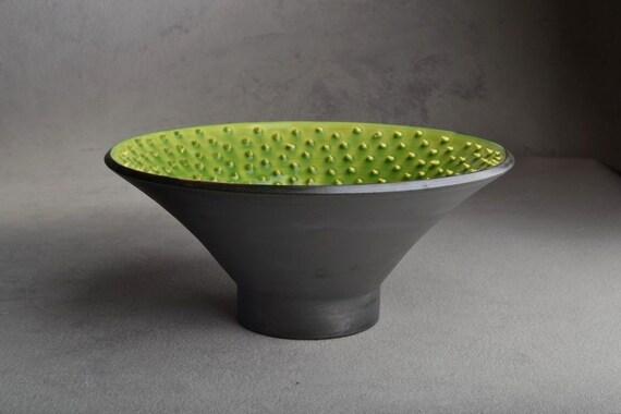 "Spiky Bowl Ready To Ship 9-1/4"" Venus Wheel Thrown Bowl by Symmetrical Pottery"
