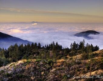 Landscape Photography Travel photography Mountain photography Sunrise Photography Morning Fog photography pink  Fine Art Photography Print