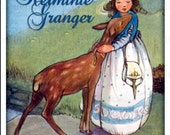 Personalized ADHESIVE Bookplate - Deer and Little Girl - Perfect Gift - Stickers