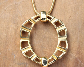 Vintage 70's gold choker by Lucien Piccard