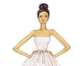 Kelly-Bridal Fashion Illustration Print-by Brooke Hagel
