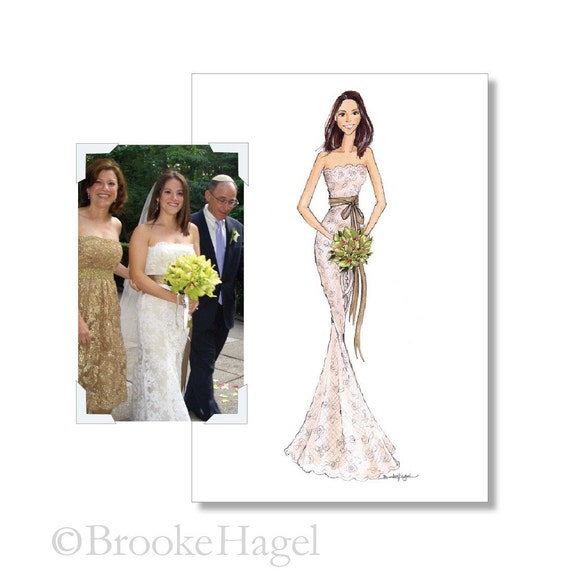 Bridal Illustration - Wedding Gift